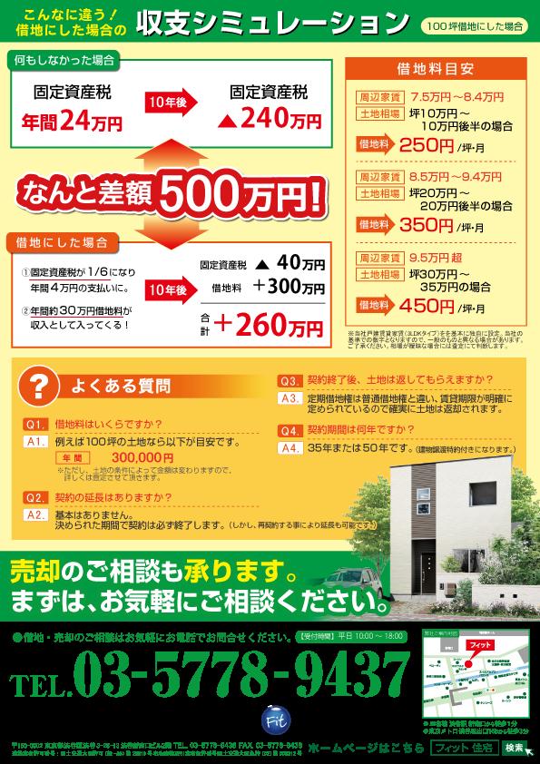 定期借地広告(戸建賃貸用地)埼玉北部_裏